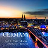 Germany 8.5 X 8.5 Photo Calendar January 2020 - June 2021: 18 Monthly Mini Picture Book  Cute 2020-2021 Year Blank At A Glance Monthly Colorful Desk ... (Awesome Country Photograph Desk Calendars)