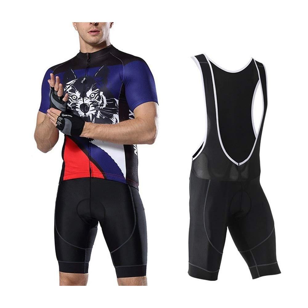 Sommer Radsportanzug Neue Herren Radsport Shirt Shorts Strap Sportswear Quick Dry Fahrrad Reitanzug Fahrrad Trikot LPLHJD