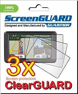 "3x Garmin Nuvi 2595 2595LT 2595LM 2595LMT 5"" GPS Premium Clear LCD Screen Protector Cover Guard Shield Protective Film Kit"