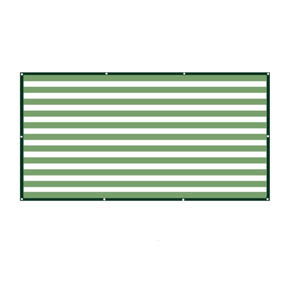 AJZGF Regenschutz Wasserdicht Schattierungsnetz, Hauptbalkonschattennetz fleischiges Blaumenbetriebsisolierungsnetz 6 Nadelschattierungsnetz (Farbe   Rice Grün Weiß 2-4x5m)