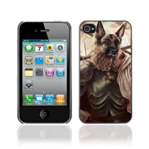 iKiki-Tech Hard Case Cover for Apple iPhone 4 4S - German Shepard Dog General