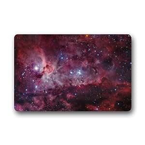 Nebulosa del Galaxy espacio universo diseño tela no tejida Top personalizado Felpudo, para interior/exterior Felpudo (23,6x 39,88cm)
