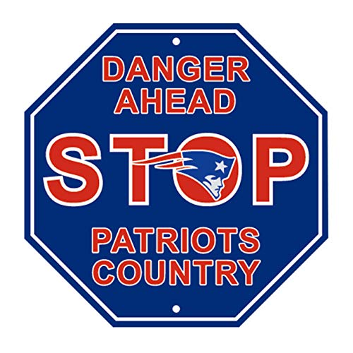 RongJ- store NFL New England Patriots Stop Sign Parking Sign 12