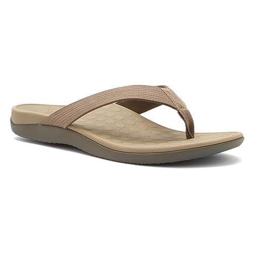 9187db81bb1d Vionic with Orthaheel Technology Unisex Wave Orthatic Sandal Khaki 9 B(M)  US Women
