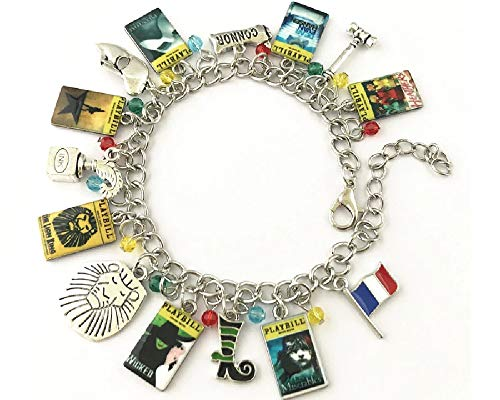 Ivy & Clover Broadyway Show Inspired Charm Bracelet with Theater Playbill ()