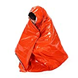 MOJUN 83'' X 51'' Emergency Blankets Orange First Aid Thermal Survival Foil Blanket Warming, Pack of 2