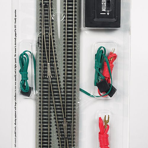 Bachmann Industries E-Z Track 6 Single Crossover Turnout - Left (1/card) N Scale 44875