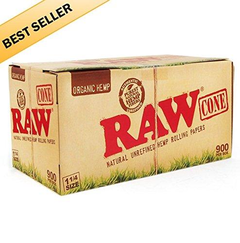 900 Raw Organic Pre Rolled 1/4 Cones - Includes a TSC Sticker