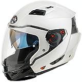 Airoh Casco crossover Executive Color con doppia visiera S Bianco