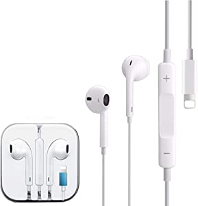 for iPhone Headphones with Microphone Wired Earphones Stereo Sound in-Ear Earbuds Wired Volume Control Compatible for iPhone 11/11 Pro/Max/X/Xs/XR/8/8Plus/7/7Plus/SE