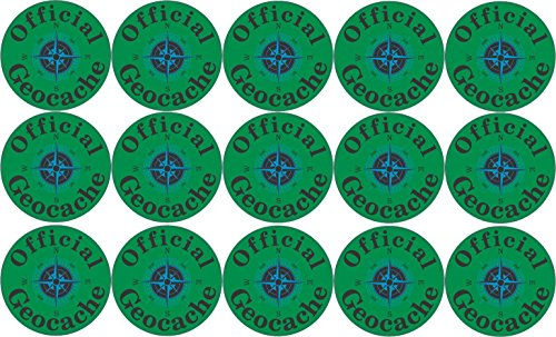 StickerTalk 1in x 1in Official Geocache Micro Cache Stickers Decals Geocaching Sticker primary