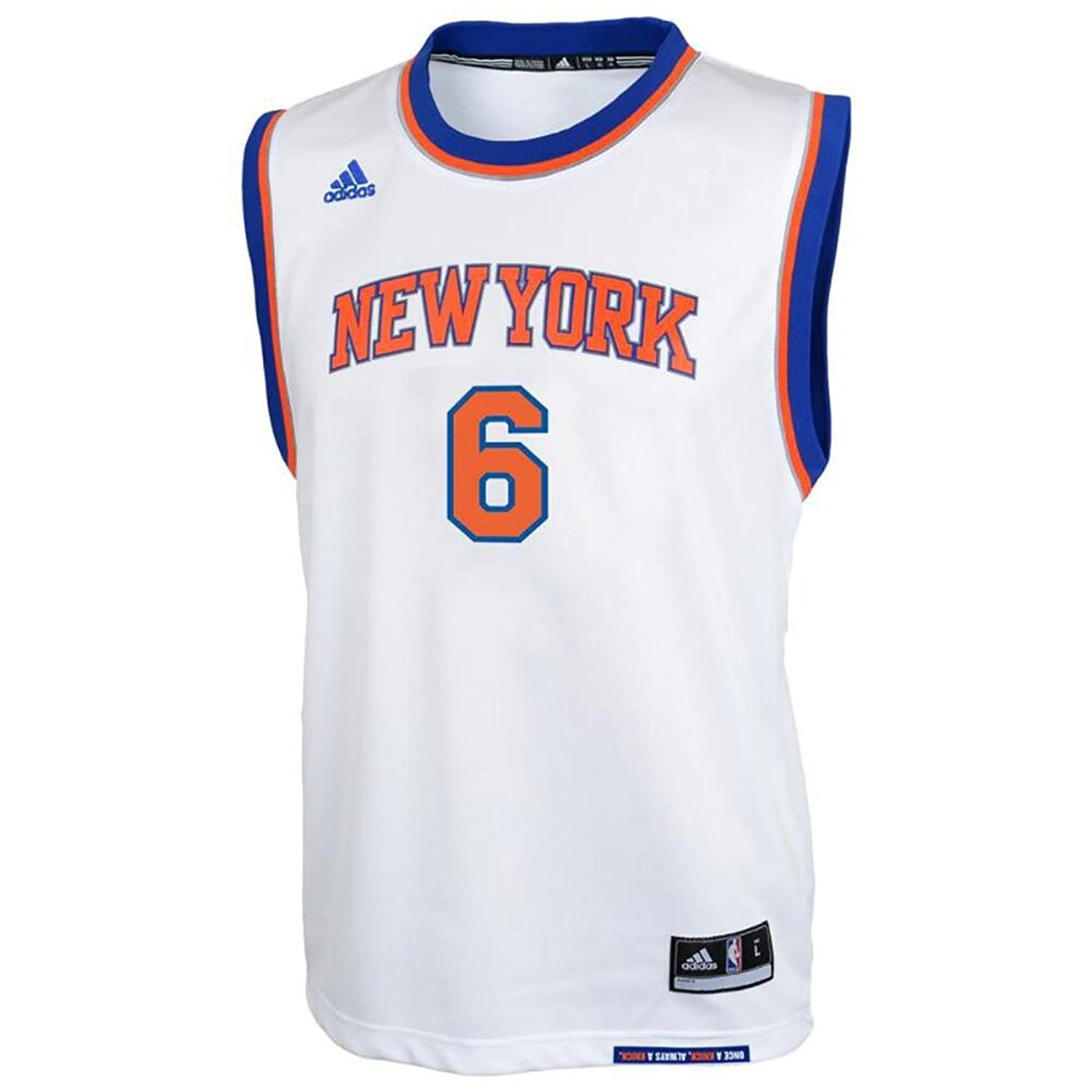 Amazon.com : Kristaps Porzingis New York Knicks #6 NBA Youth Home Jersey (Medium 10/12) : Sports & Outdoors