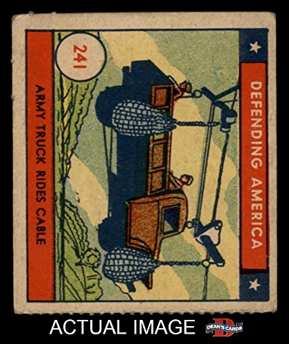 1941 W.S. Corp Defending America # 241 Army Truck Rides Cable (Card) Dean's Cards 3 - VG 1509219