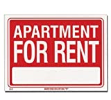 3 Pk, Bazic Products 12 in. x 16 in. Apartment for Rent Sign