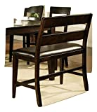24'' Kitchen Counter Height Dining Bench in Espresso