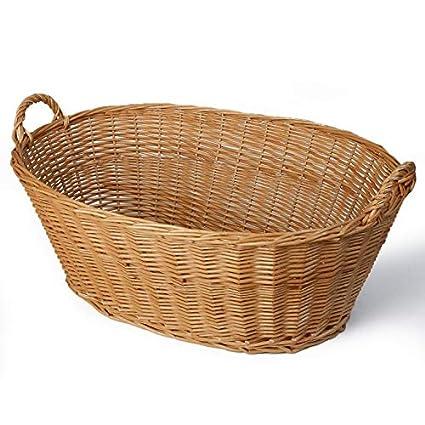 Weiden Wäschekorb Oder Kinderspielzeug Eine Schöne Form Neu Möbel & Wohnen Körbe