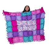 Melissa & Doug Created by Me! Flower Fleece Quilt (Arts & Crafts, No-Sew Fleece Quilt, Soft Material, 48-Pieces