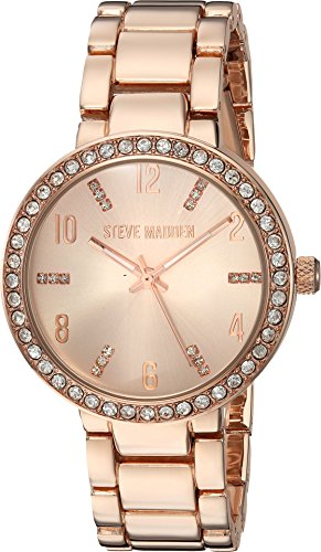 Steve+Madden+Women%27s+Quartz+Metal+and+Alloy+Casual+Watch%2C+Color%3APink+%28Model%3A+SMW080Q%29
