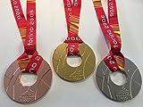2006 OLYMPICS Torino ITALY Winter Olympics Souvenir GOLD SILVER BRONZE SET medals with ribbon RARE TEAM USA