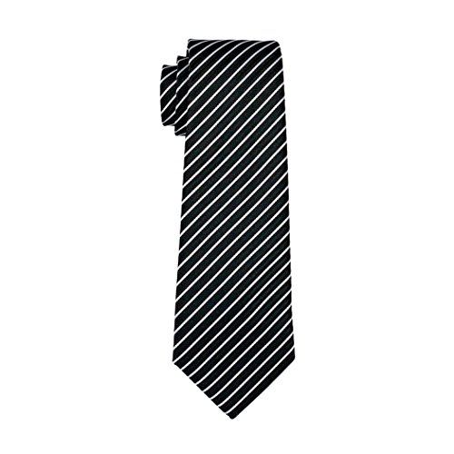 Necktie Square Men Pocket Black Classic Set Barry Wang Cufflinks for Stripe Ties vA78RqI