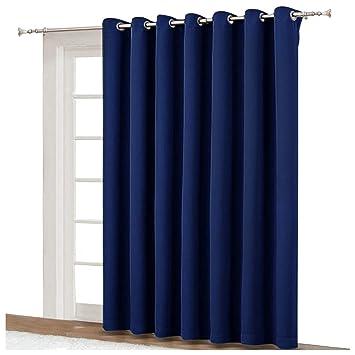 Amazoncom Nicetown Blackout Curtain For Sliding Door Patio Door