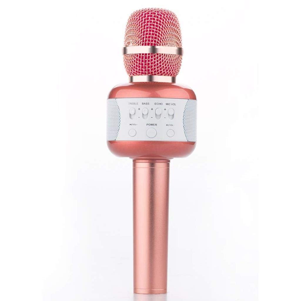 Rsiosle Professional Wireless Karaoke Microphone Bluetooth Speaker Mic Handheld Mic Party KTV Singing Compatible with Android and iOS ( Color : Pink ) by Rsiosle (Image #1)