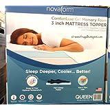 Novaform Gel Memory Foam 3 Inch Mattress Topper - Queen