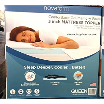 Amazon Com Novaform Gel Memory Foam 3 Inch Mattress