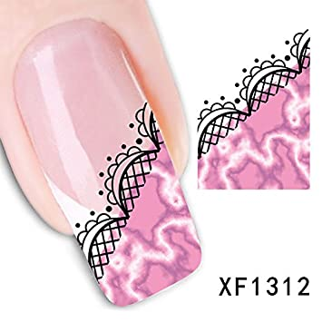 Amazon 3d Nail Art Tips Stickers False Nail Design Manicure