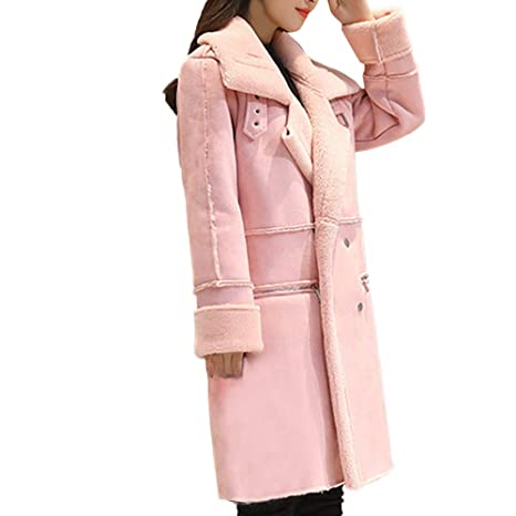Amazon.com: Womens Coats Winter Clearance!Besde Womens Fashion Casual Warm Lightweight Outwear Lapel Faux Fur Fleece Lined Shearling Coat Leather Jacket: ...