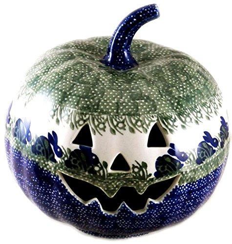 9-polish-pottery-stoneware-pumpkin-easter-or-halloween-jack-o-lantern-p324-bunny-rabbit