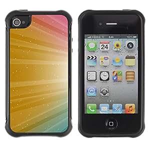 Suave TPU GEL Carcasa Funda Silicona Blando Estuche Caso de protección (para) Apple Iphone 4 / 4S / CECELL Phone case / / Color Shine Sparkle Colors /
