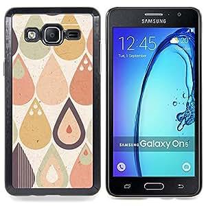 Stuss Case / Funda Carcasa protectora - Gota Gota de lluvia Tear Modelo en colores pastel Forma - Samsung Galaxy On5 O5