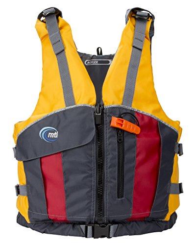 MTI Adventurewear Reflex PFD Life Jacket, Medium/Large, Mango/Dark Gray