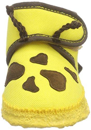 Nanga Giraffe Unisex Baby Krabbel- & Hausschuhe Gelb (74)