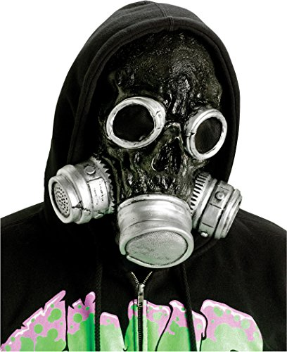 Fun World Adult's Bio Dark Zombie Gas Mask, black Standard -
