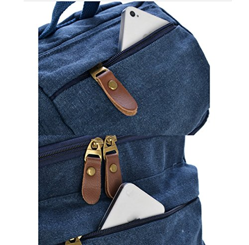 Shoulder Leisure Backpack Khaki Bag Multi purpose Business Travel Canvas Laidaye 8F5gqFI