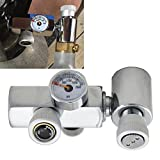 UP100 CO2 Cylinder Refill Adapter Connector Brass Homebrew Kit for Filling Soda Stream Tank