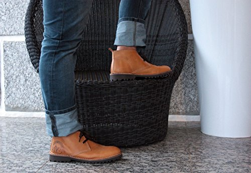 Portmann Öken Chukka Boots Antik Oljad Läder | Sommar Stövlar | Extralight Sula | Gjorts I Europa. Vete Nubuck Kamel