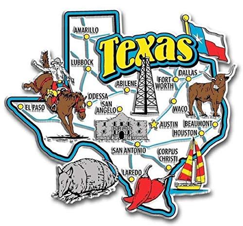 Texas Jumbo State Map Fridge ()