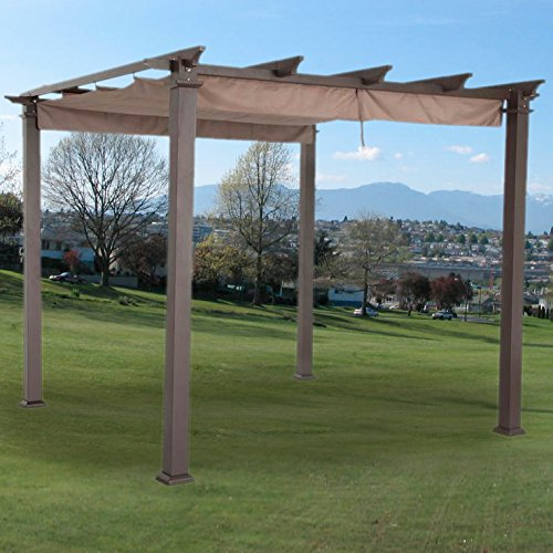 Garden Winds Replacement Canopy Top Cover for Hampton Bay 9Ft Pergola - SUNBRELLA (Covers Sunbrella Canopy)