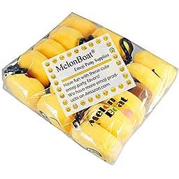 MelonBoat 16 Pack Emoji Mini Plush Pillows, Keychain Decorations, Kids Party Supplies Favors, 2\