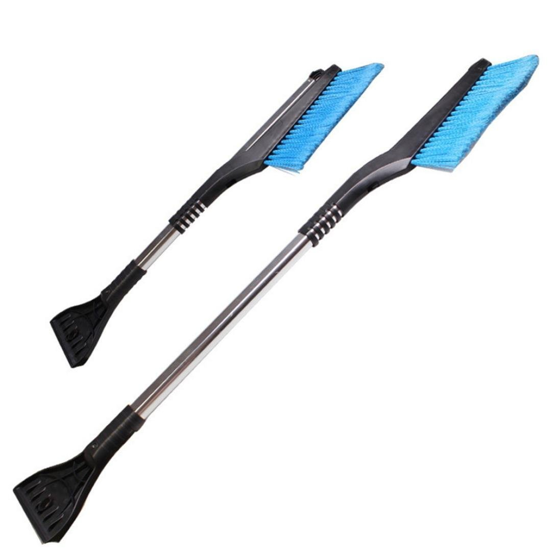 Seicosy 2 in 1 Fashion Car vehicle Snow Ice Scraper SnowBroom Snowbrush Shovel Removal Brush Winter - New Telescopic Snow Shovel Clean Tools 4332981826