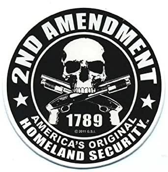 Amazon Com Motorcycle Helmet Sticker 2nd Amendment