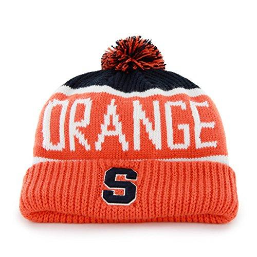 Syracuse Orangemen Orange Cuff  Calgary  Beanie Hat With Pom   Ncaa Cuffed Winter Knit Toque Cap