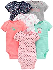 Simple Joys by Carter's Baby-Girls 6-Pack Short-Sleeve Body
