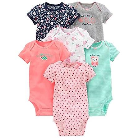 Simple Joys by Carter's Girls' 6-Pack Short-Sleeve...