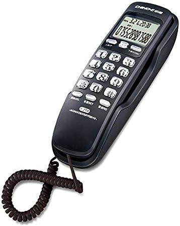 Postura ZH Teléfono Fijo Inicio Colgante de Pared Línea Fija Tipo de Pared Identificador de Llamadas Mini Mini extensión (Color: Negro) @ Negro, teléfono Fijo, teléfono Fijo: Amazon.es: Hogar
