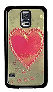 Samsung S5 thin cases Love Heart Valentines PC Black Custom Samsung Galaxy S5 Case Cover