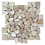 Interlocking Traventine Mosaic Floor Til...
